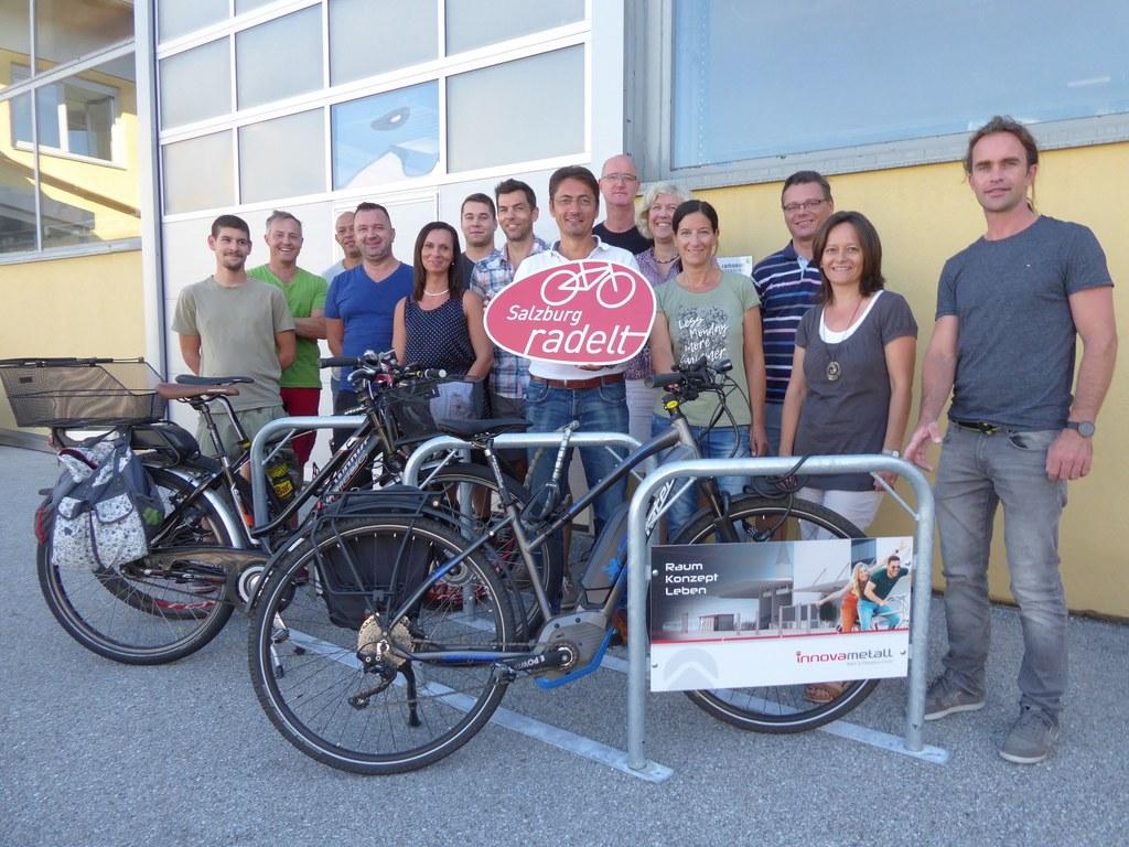 Ein mobiler Radständer als Gewinn macht das Radeln in die Firma für die Ramseier..
