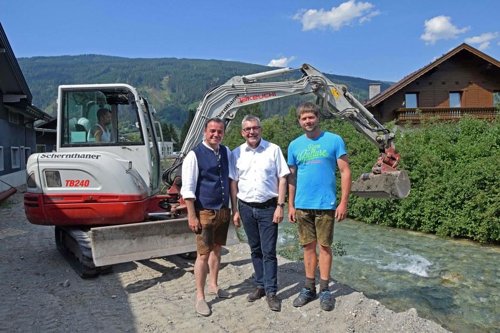 Für die Taurach in Radstadt wird es nach Fertigstellung des Hochwasserschutzes n..