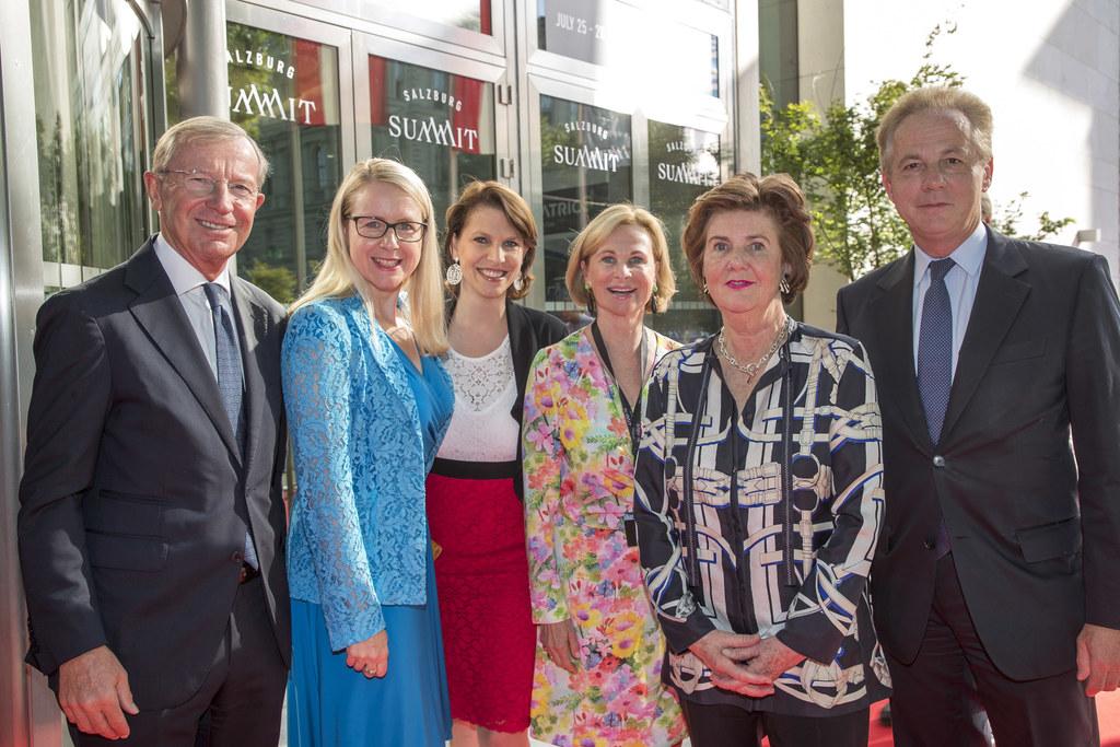 Salzburg Summit 2019: LH Wilfried Haslauer; Margarete Schramböck; Karoline Edsta..