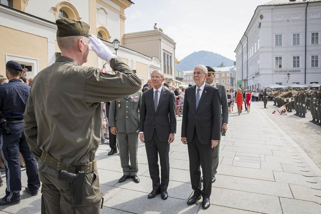 Vor der Eröffnung der 99. Salzburger Festspiele wurde Bundespräsident Alexander ..