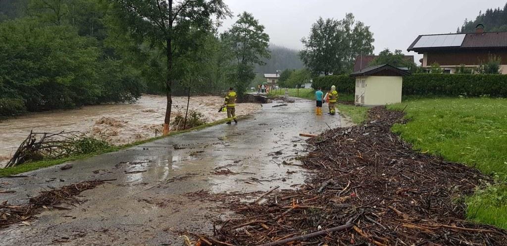 Das Lammertal war auch schon beim Hochwasser am 29. Juli betroffen. Mittwoch kom..
