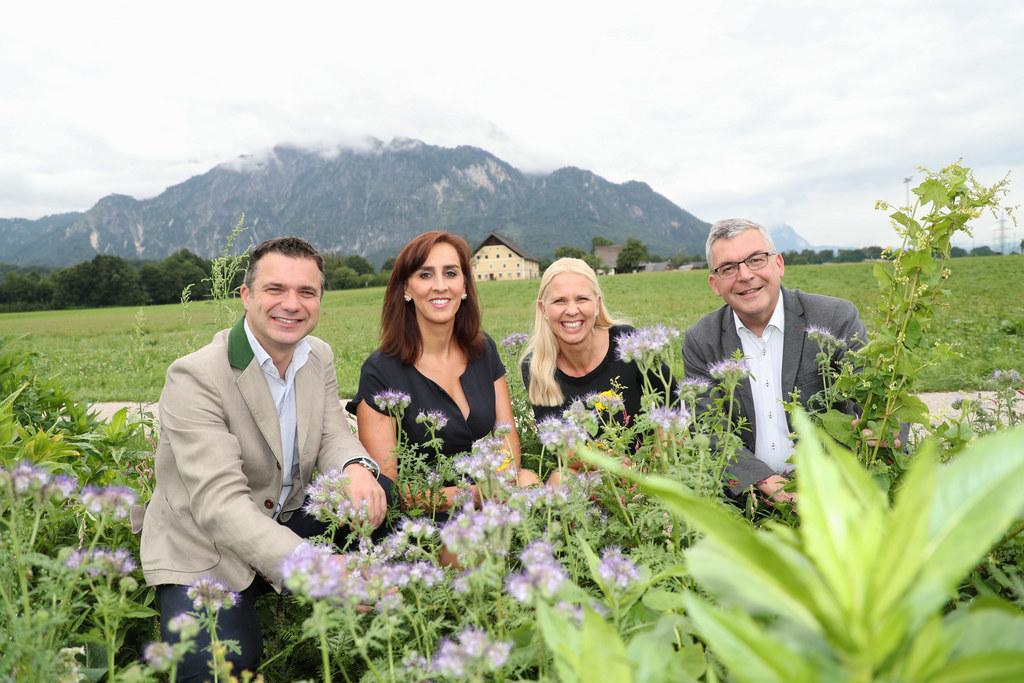 Arbeiten zusammen, damit es in Salzburg vielfältig blüht: Rupert Quehenberger (P..