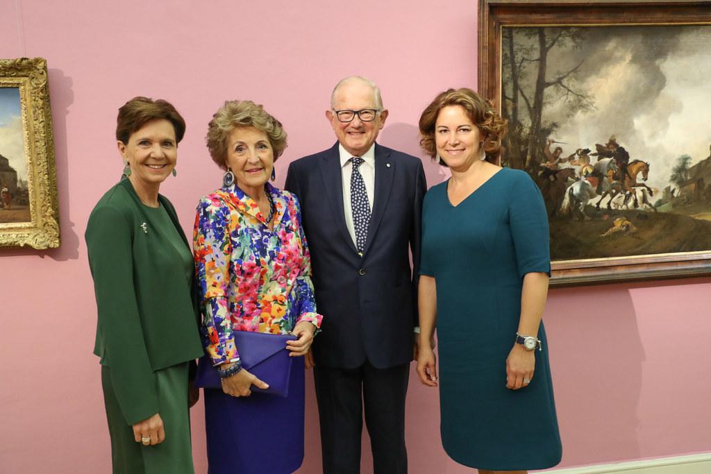 Königlicher Besuch bei der Ausstellungseröffnung, im Bild: LTP Brigitta Pallauf,..
