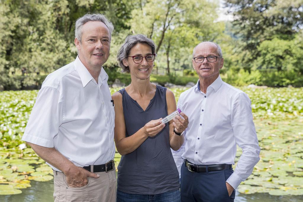 LH-Stv. Christian Stöckl mit Landessanitätsdirektorin Petra Juhasz und Zoologe B..