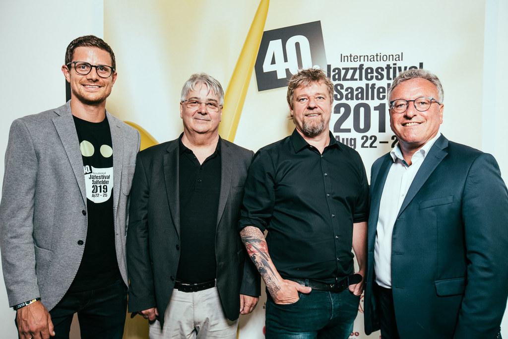 Offizielle Eröffnung des Jazz-Festival Saalfelden: Marco Pointner, Veranstalter,..