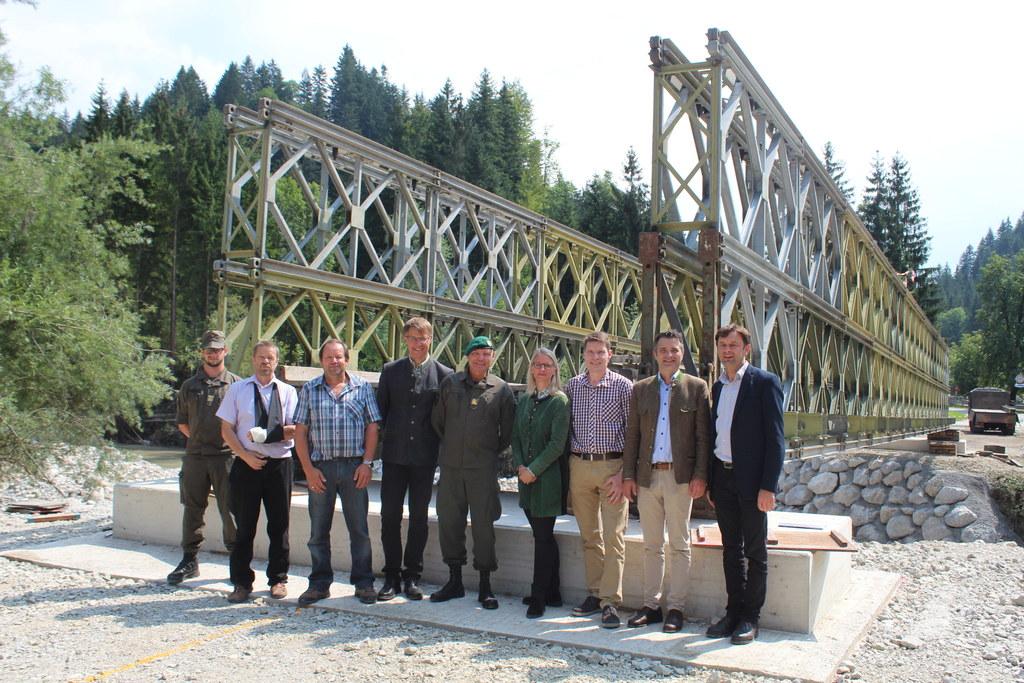 Auch die Kurhausbrücke in Abtenau wurde Ende Juli beim Hochwasser zerstört. Pion..