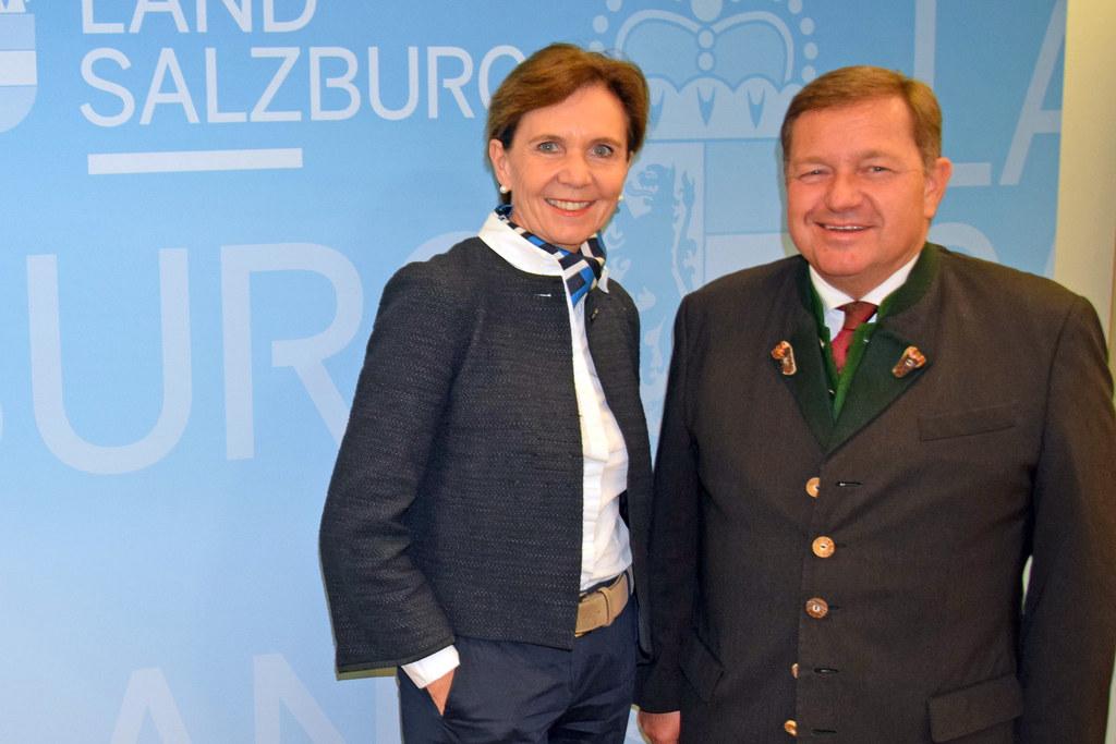 LTP Brigitta Pallauf traf Volksanwalt Werner Amon im Chiemseehof.