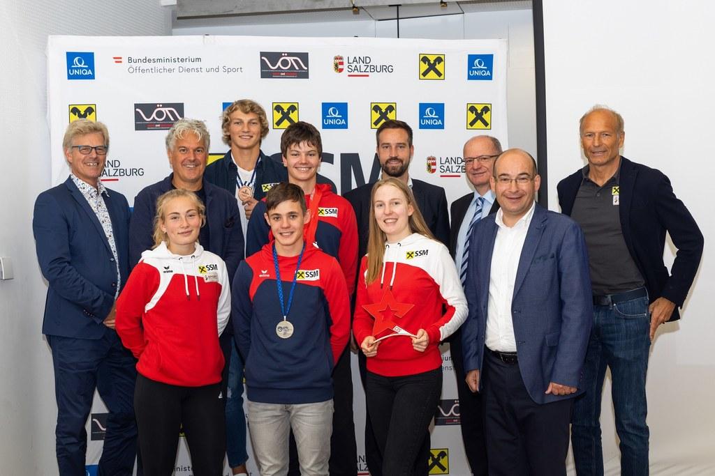 Die erfolgreichen Nachwuchsathleten des Salzburger Schulsport-Modells wurden heu..