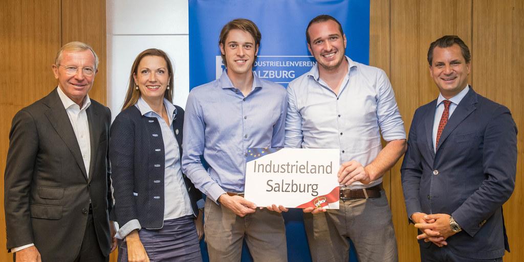 Mit der Lehre zum Ingenieur: LH Wilfried Haslauer, IV-GF Irene Schulte, die Indu..
