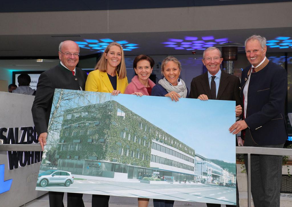 Eröffnungsfeier der neuen Firmenzentrale der Salzburg Wohnbau, im Bild von links..
