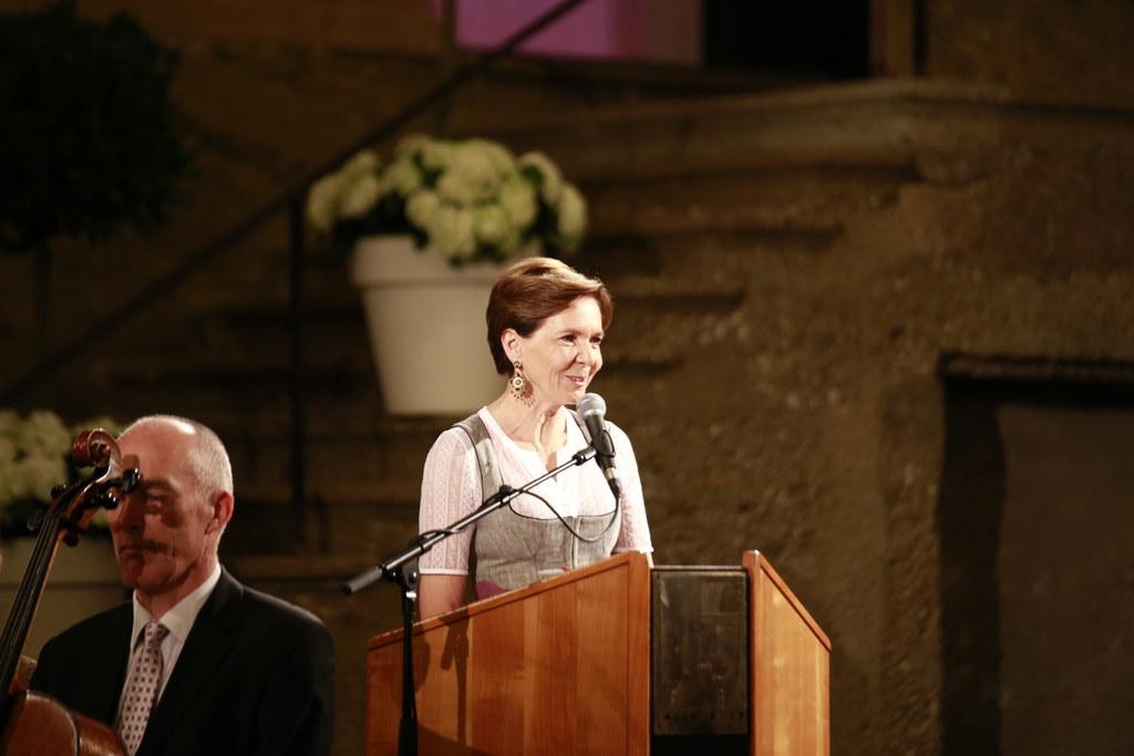 LTP Brigitta Pallauf bei der Eröffnung des Anwaltstags im Großen Festspielhaus.