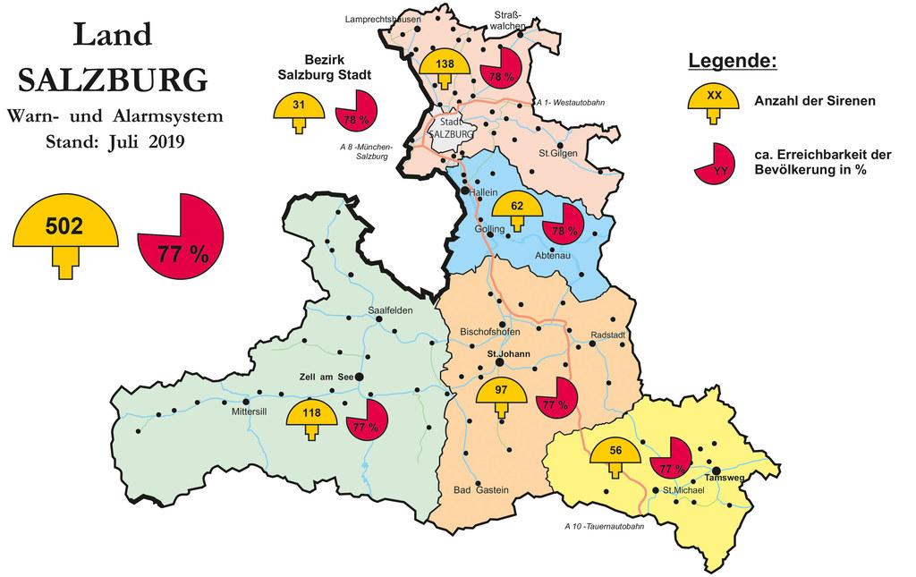 Die 502 Sirenen im Bundesland Salzburg werden am 5. Oktober getestet.