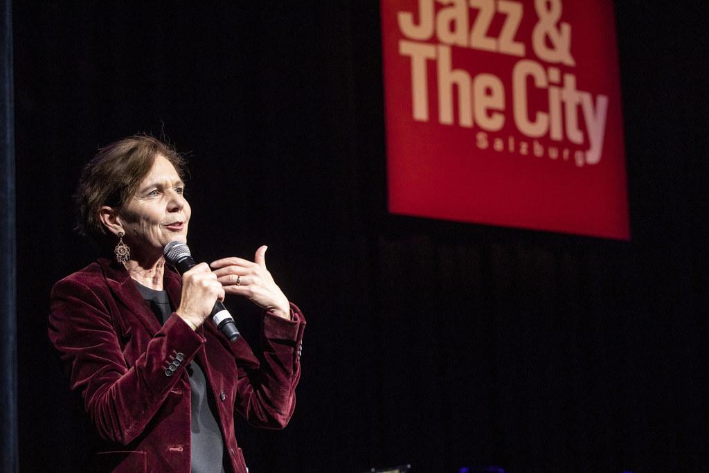 LTP Brigitta Pallauf bei der Eröffnung von Jazz & The City 2019.