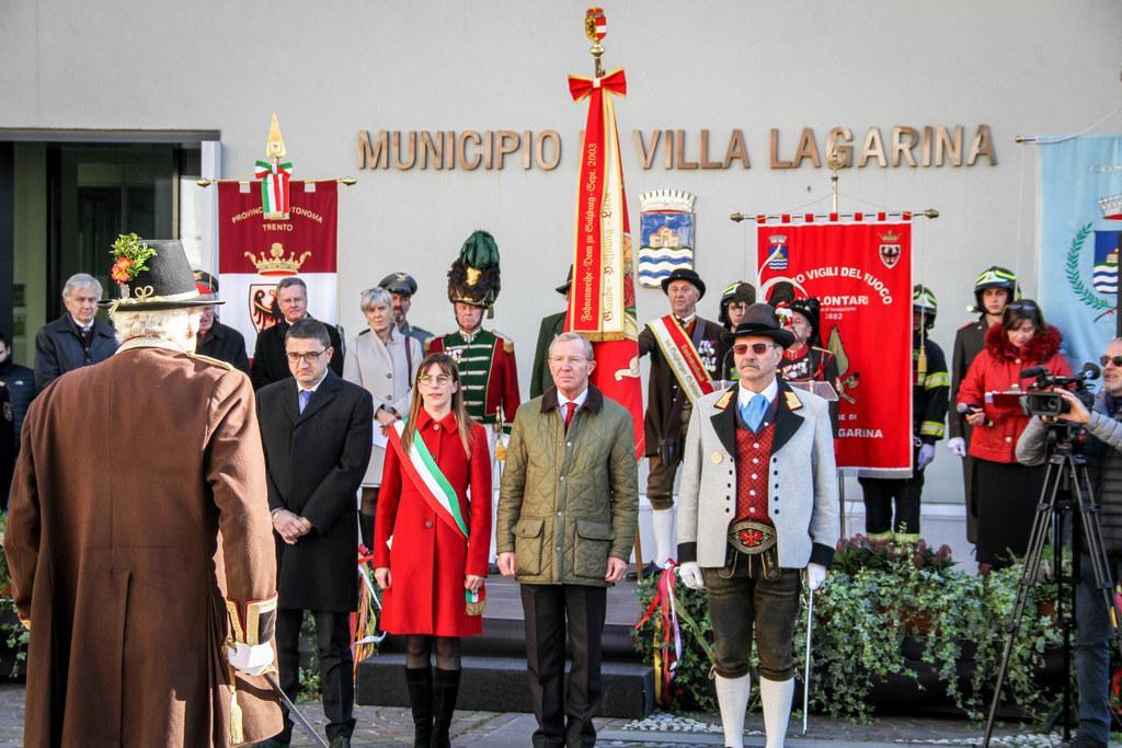 LH Wilfried Haslauer beim großen Festakt für Fürsterzbischof Paris Lodron in Villa Lagarina (Trient).