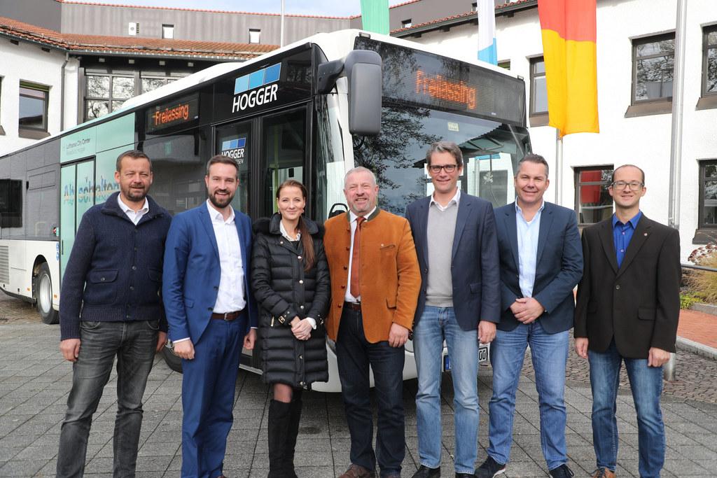 Salzburger Verkehrsverbund Treffen im Rathaus Freilassing, im Bild: Josef Harrer..