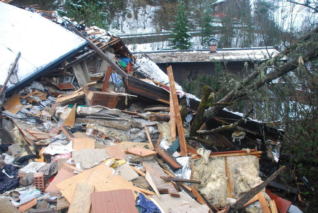 In Bad Gastein zerstörte eine Mure nach dem Starkregenereignis zwei Wohnhäuser.