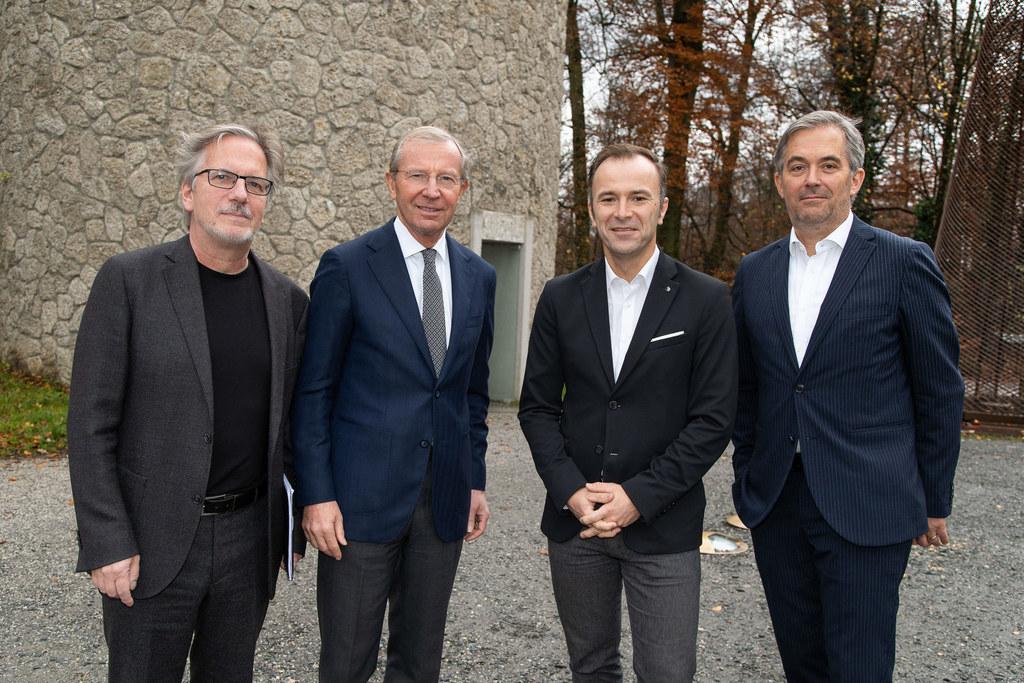 LH Wilfried Haslauer präsentierte heute mit Vize-Bgm. Bernhard Auinger, Studiena..