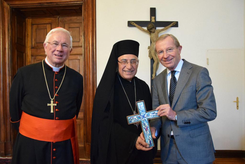 Erzbischof Franz Lackner und Patriarch Joseph I. besuchten LH Wilfried Haslauer ..