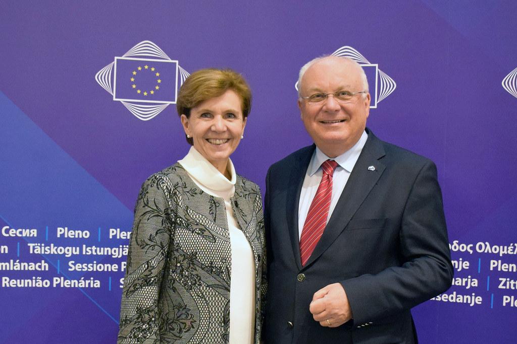 Sie vertreten Salzburg in Brüssel: LTP Brigitta Pallauf und Franz Schausberger