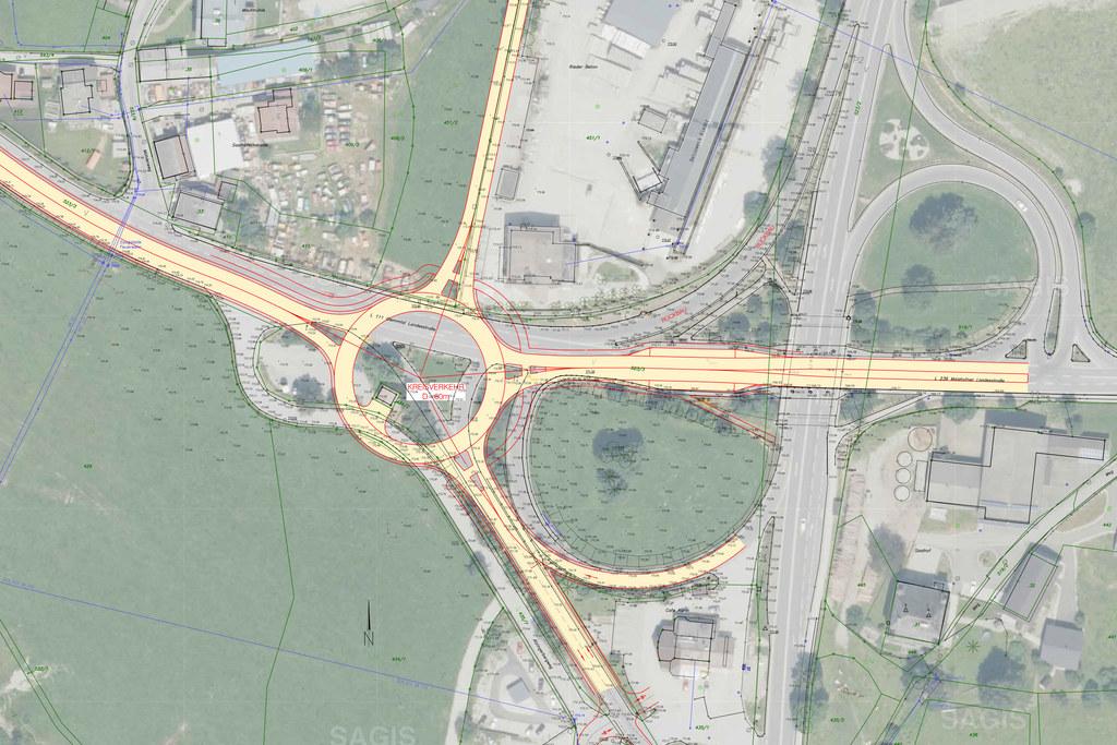 Der Verkehr ins Glemmtal soll bei Maishofen künftig über einen Kreisverkehr führ..