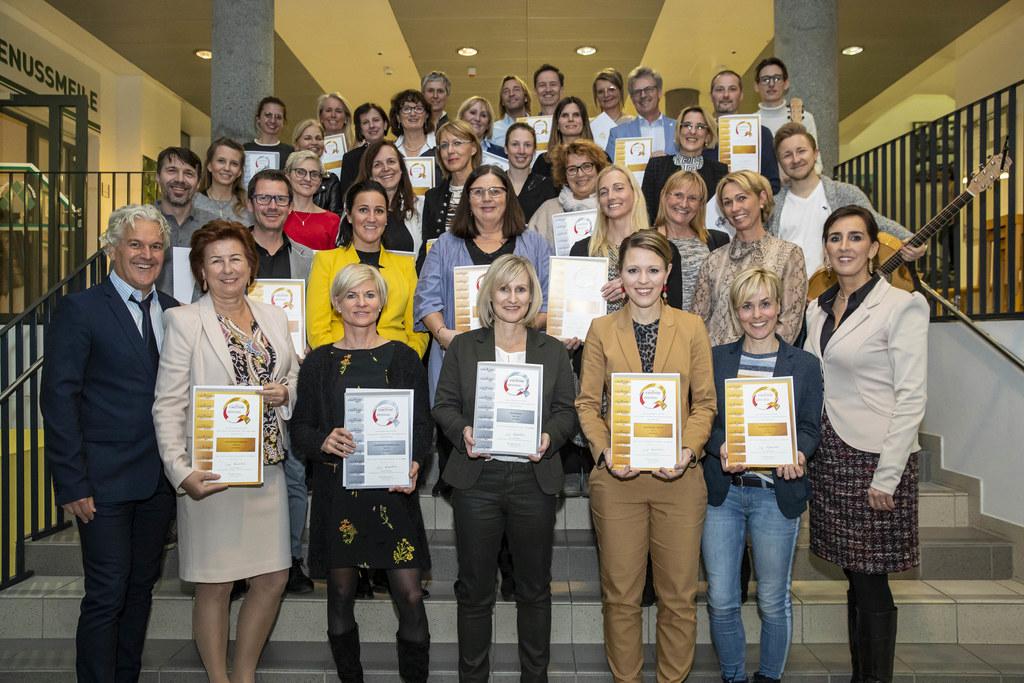 39 Salzburger Schulen wurden für ihr außerordentliches Engagement im Sportbereich ausgezeichnet.