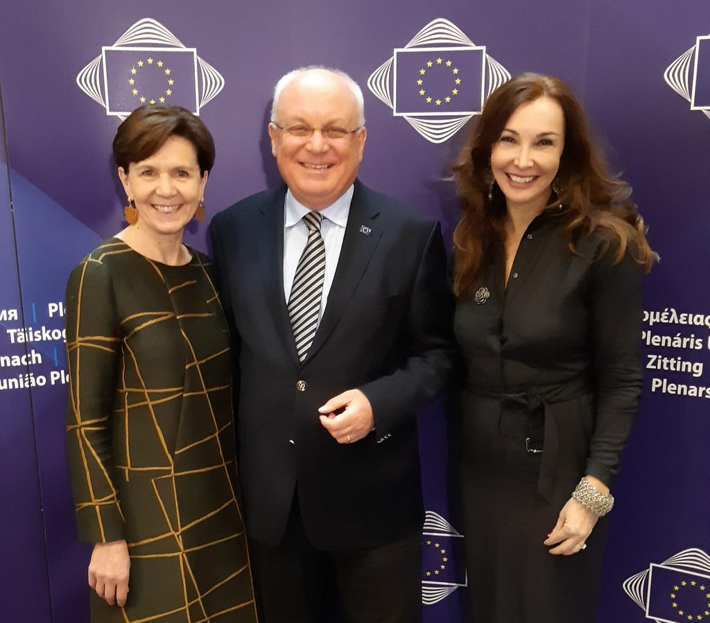 Für Salzburg in Brüssel: LTP Brigitta Pallauf (Stv. Mitglied), Franz Schausberger (Mitglied) und Michaela Petz-Michez (Verbindungsbüro)