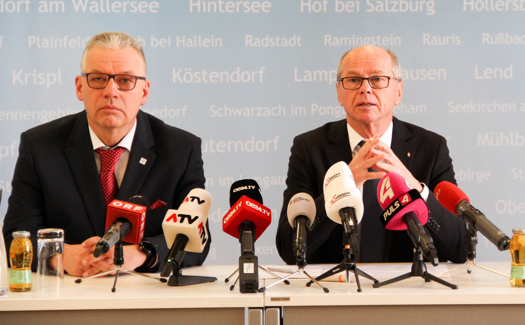 Michael Haybäck (Stadt Salzburg) und LH-Stv. Christian Stöckl.
