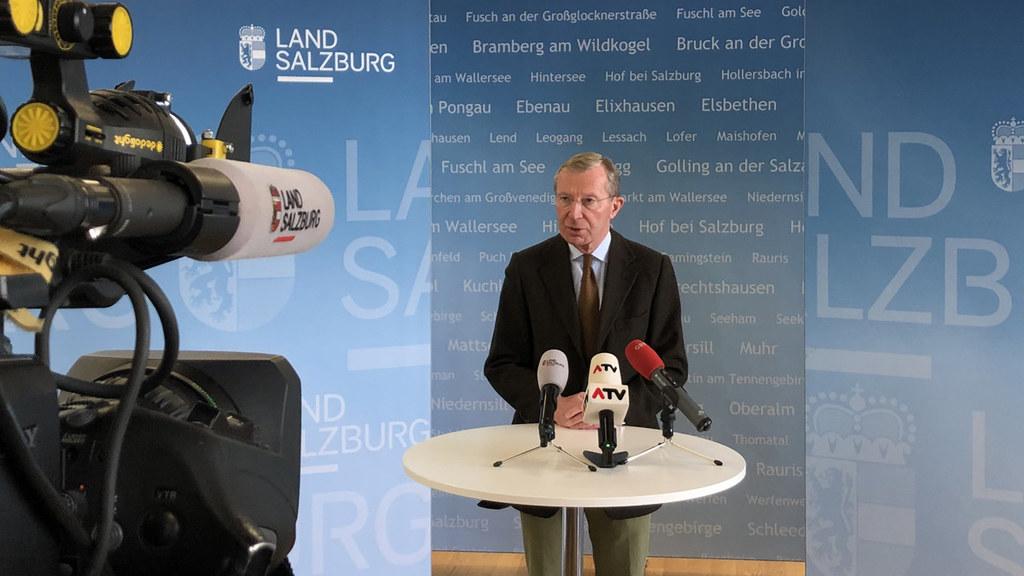 LH Wilfried Haslauer wandte sich heute an die Salzburgerinnen und Salzburger. Es gibt in Salzburg keine Ausgangssperre, sondern Ausgangsbeschränkungen.