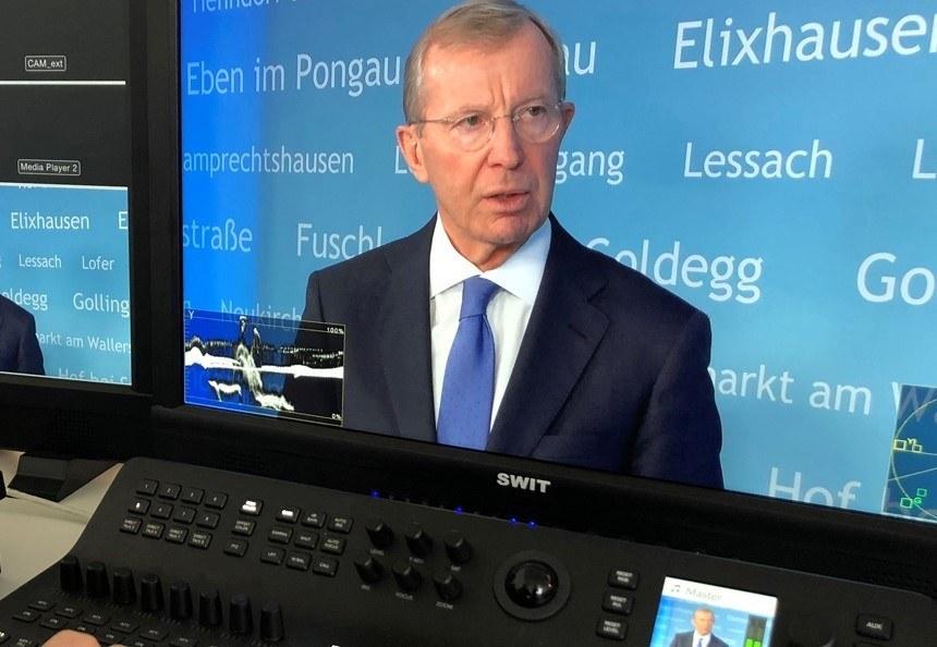 LH Wilfried Haslauer sprach am Freitag per Videokonferenz mit den Salzburger Medienvertretern.