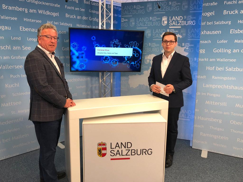 LH-Stv. Heinrich Schellhorn im Studio mit Chefredakteur Franz Wieser: Wir sind laufend dabei, Maßnahmen zu setzen, um die Menschen in unseren Einrichtungen, bestmöglich zu schützen und zu unterstützen.