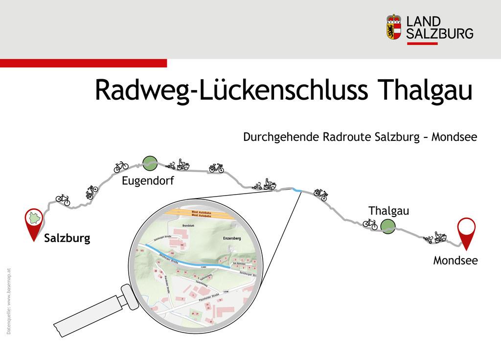 Radweg Lückenschluss Thalgau