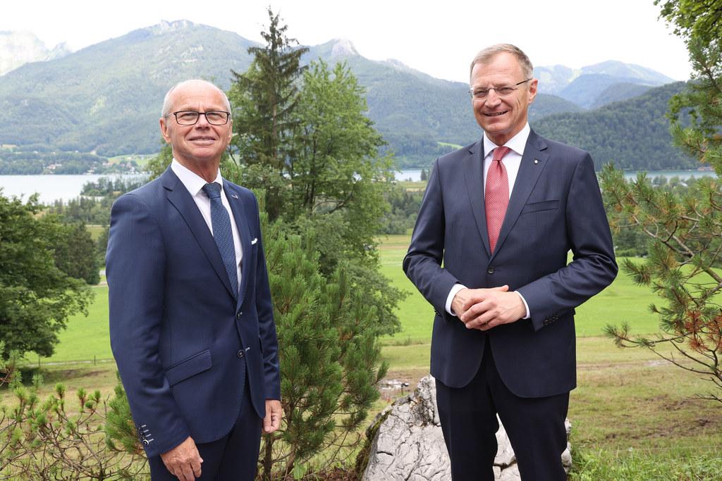 LH-Stv. Christian Stöckl übernimmt den Vorsitz in der Landesfinanzreferentenkonferenz von Oberösterreichs LH Thomas Stelzer.