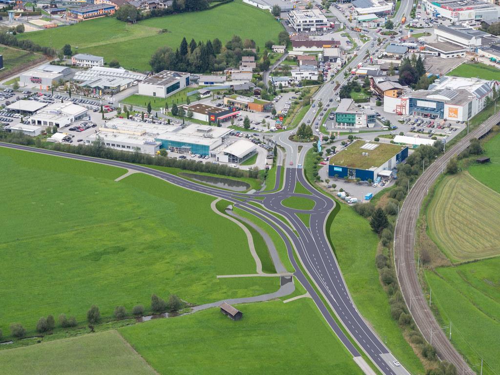 Auf Höhe der Firma Porsche wird die Entlastungsstraße von der B311 abzweigen und den Verkehr in diesem Bereich um rund 28 Prozent entlasten.