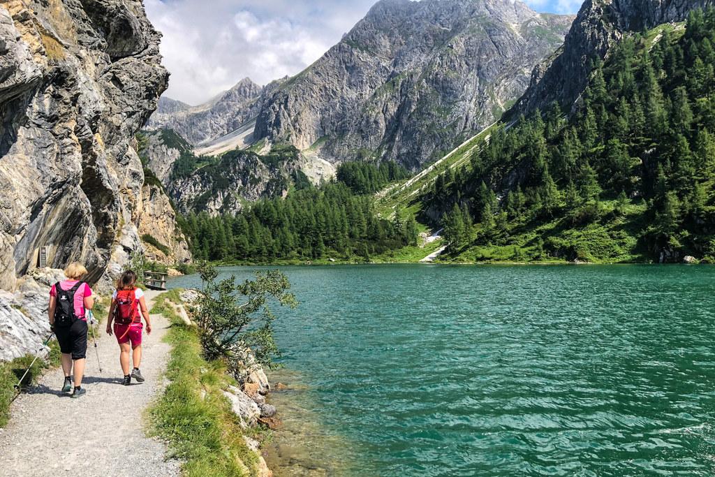 Der Tappenkarsee in Kleinarl. Manche Hütten und auch ganze Tourismusorte konnten ein Plus verzeichnen. Bewegung im Freien verband Urlaub und Minimierung des Ansteckungsrisikos.