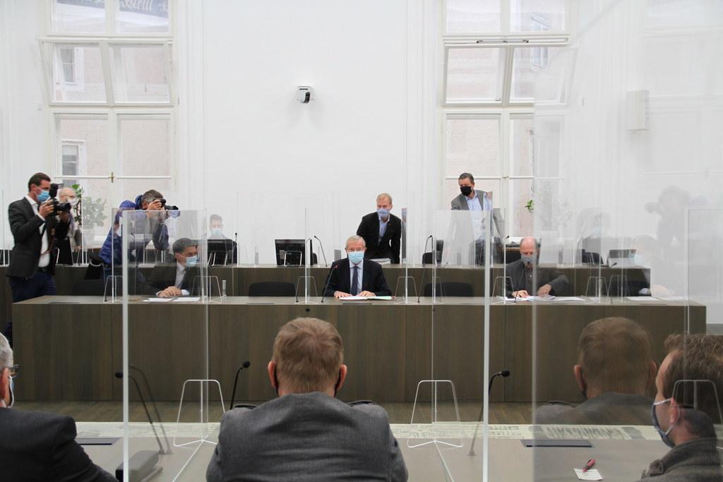 Die Corona-Maßnahmen für den Bezirk Hallein werden verschärft. Gespräch von Landeshauptmann Wilfried Haslauer mit Tennengauer Bürgermeistern im Chiemseehof.