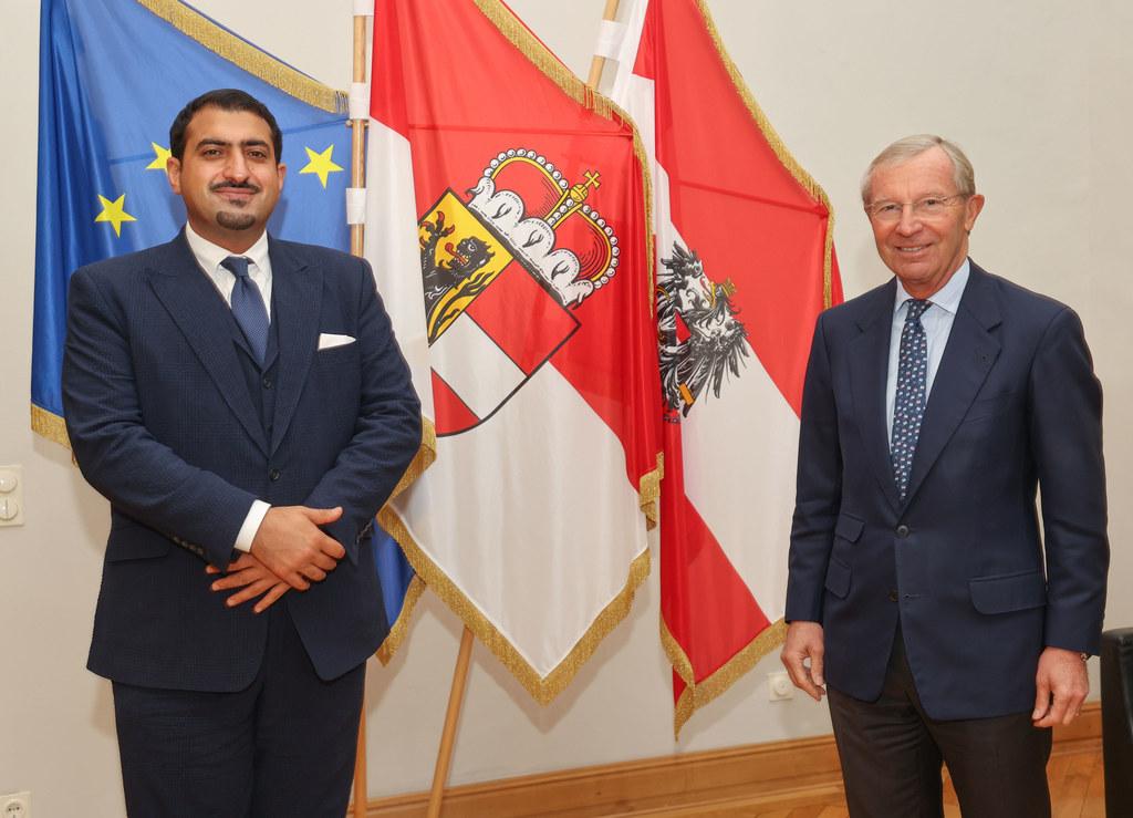 Der Botschafter des Königreichs Saudi-Arabien, Abdullah bin Khaled bin Sultan bin Abdulaziz, stattete LH Wilfried Haslauer einen Antrittsbesuch ab.