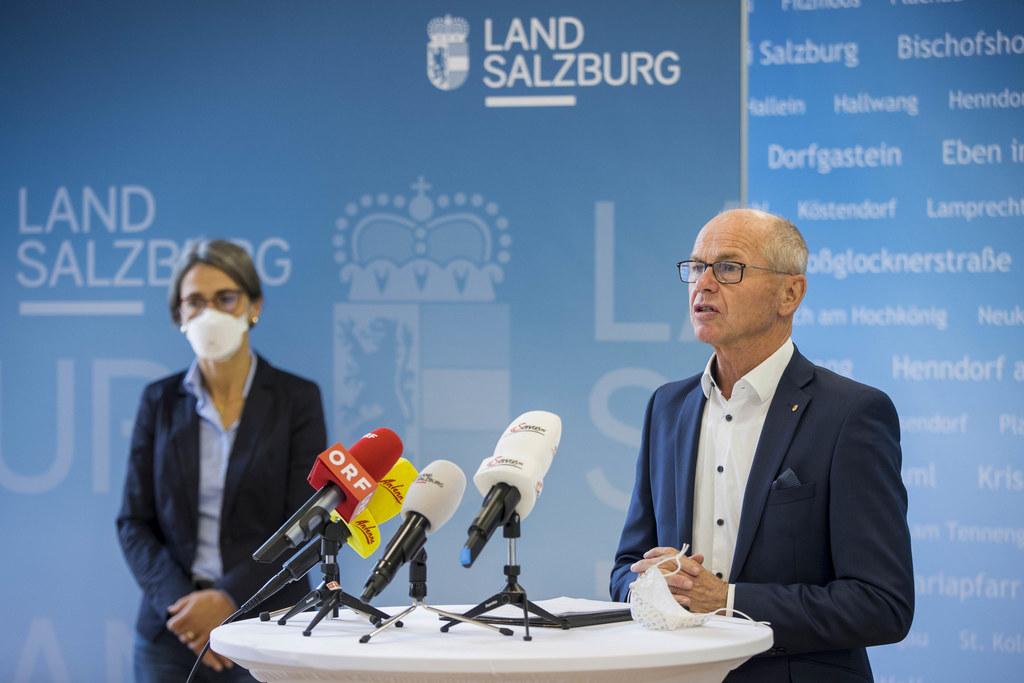 """LHStv. Christian Stöckl stellte klar: """"Wir sind gut vorbereitet, aber das Gesundheitssystem kann sehr schnell an seine Grenzen stoßen."""""""