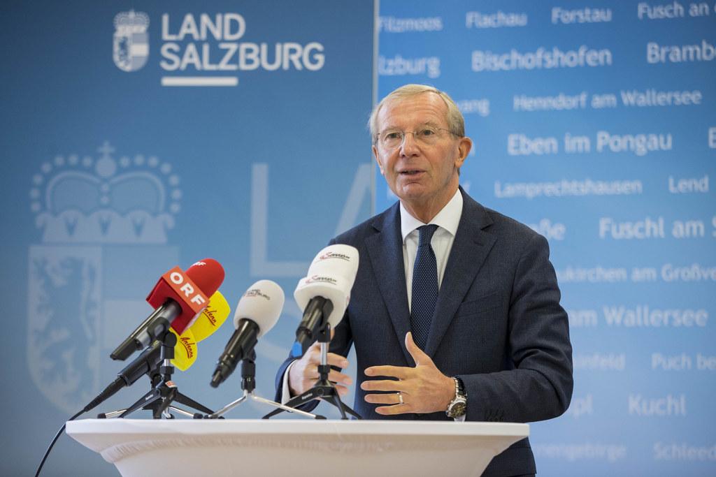 """""""Für uns alle ist es ein großer Verzicht, der aber leider alternativlos erscheint"""", so Landeshauptmann Wilfried Haslauer zu den neuen Maßnahmen (Archivbild)."""