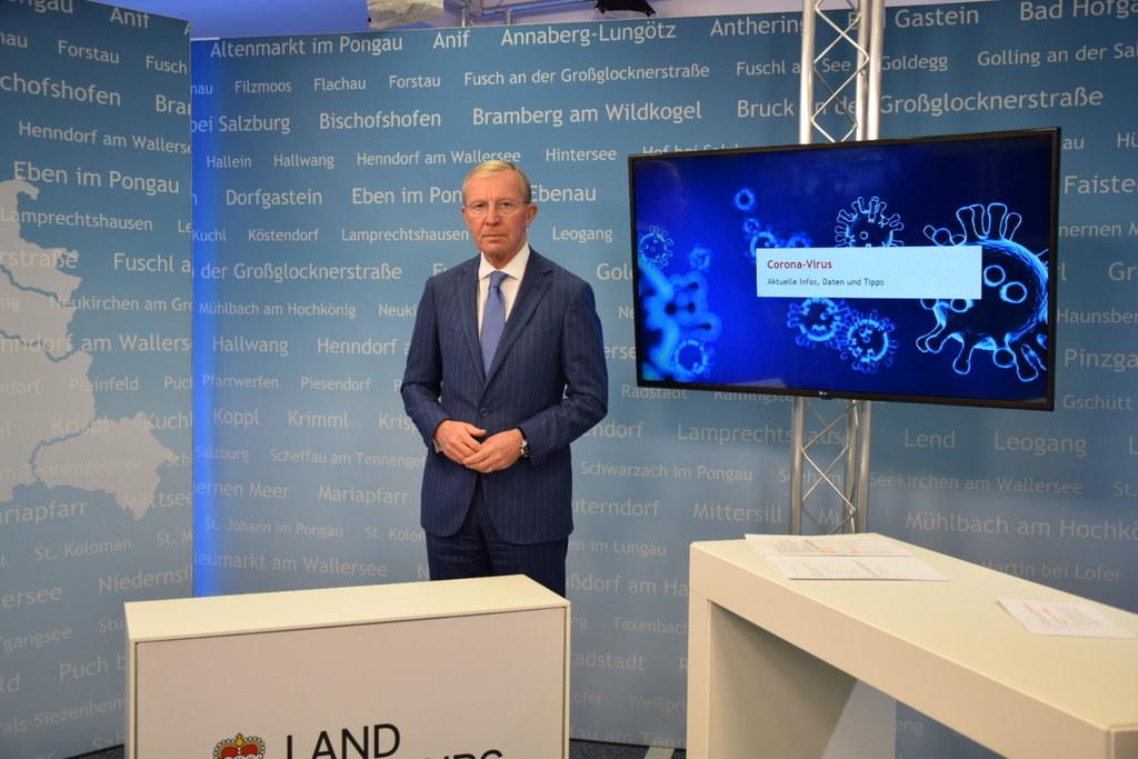 """LH Wilfried Haslauer: """"Die Lage ist besorgniserregend. Es werden derzeit aber keine neuen Gemeinden unter Quarantäne gestellt."""""""