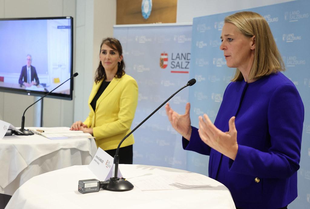 Für die Landesrätinnen Maria Hutter und Andrea Klambauer (im Archivbild) ist klar: Die Bildungseinrichtungen öffnen am 7. Dezember mit erhöhten Hygienemaßnahmen.