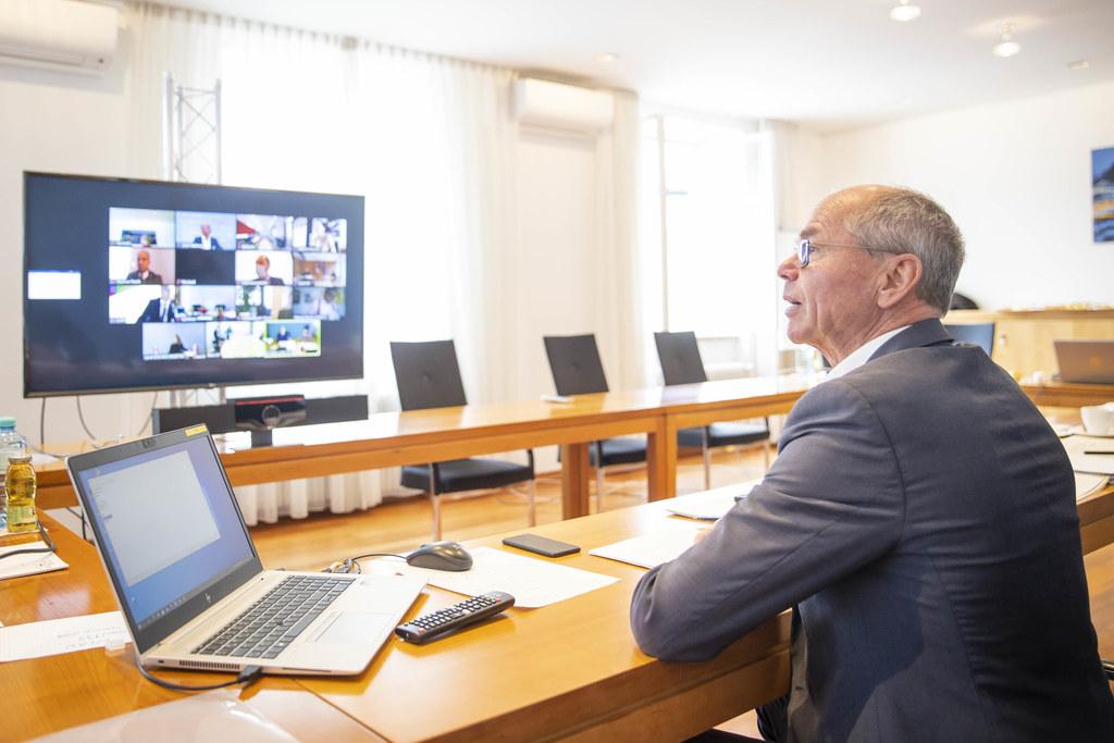 LH-Stv. Christian Stöckl konferierte mit BM Gernot Blümel und den Finanzreferenten der Länder.