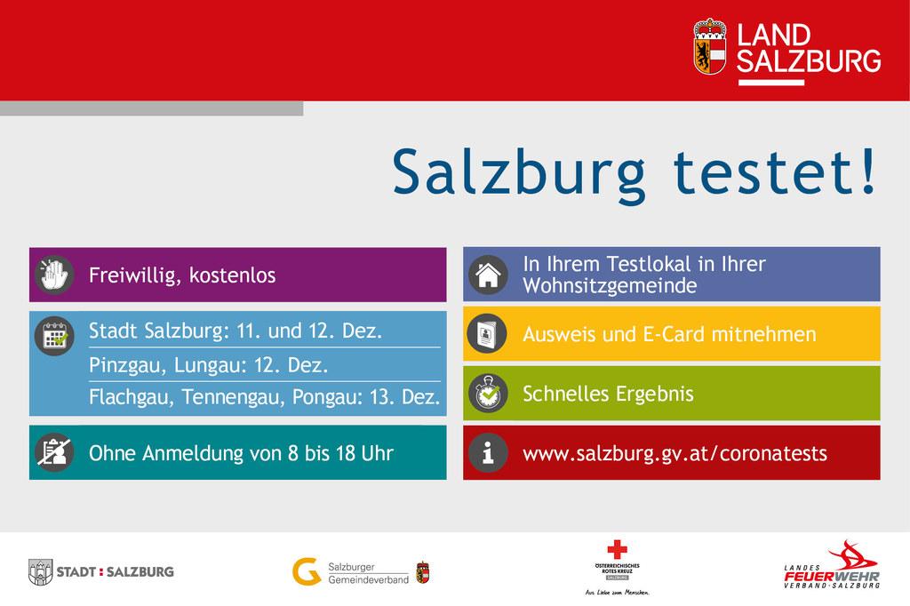 Heute wurde fixiert, welcher Bezirk in Salzburg wann testet.