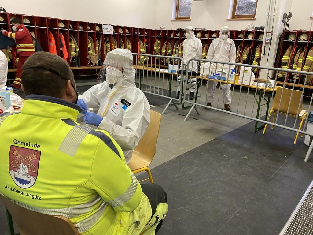 Gemeinde, Rotes Kreuz und Feuerwehr sorgten für einen reibungslosen Ablauf.