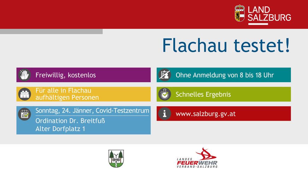 In Flachau hat am 24. Jänner jeder kostenlos und unkompliziert die Möglichkeit, sich auf das Corona-Virus testen zu lassen.