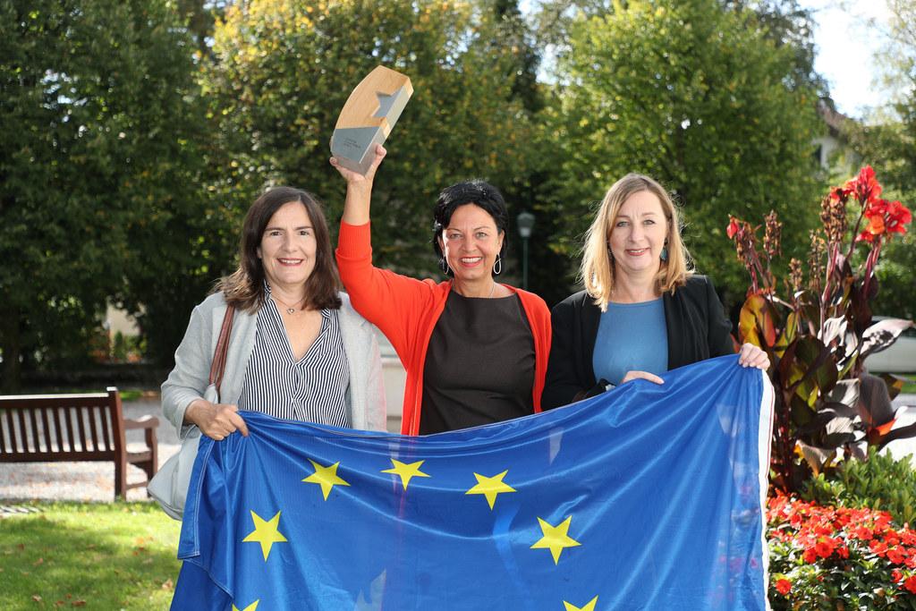 Für weitere fünf Jahre EU-Informationsarbeit wurde das Team von Europe Direct Land Salzburg bestätigt. Im Archivbild v.l. Gabriela Tahir, Leiterin Gritlind Kettl und Katharina Maurer.