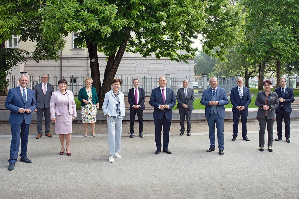 LTP Brigitta Pallauf und ihre Amtskolleginnen und -kollegen besprachen die Themen Informationsfreiheitsgesetz, Zukunft Europas und Vertrauen in die Politik.