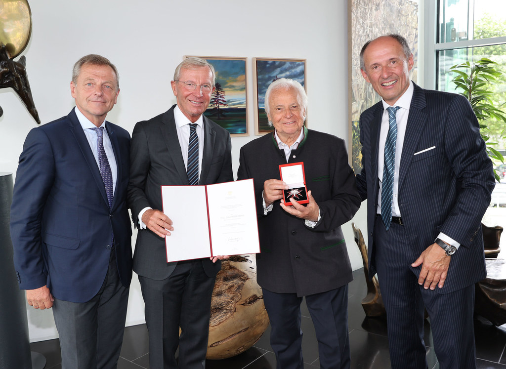 LAbg. Hans Scharfetter, LH Wilfried Haslauer, Eckart Witzigmann und Leo Bauernberger (GF Salzburger Land Tourismus).