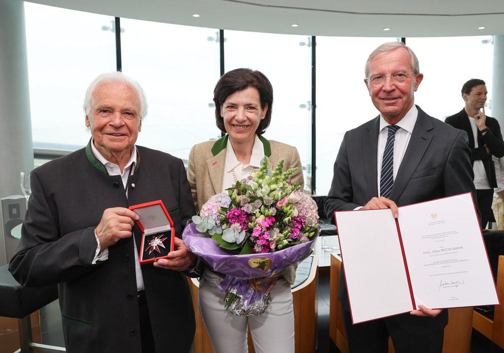 Eckart Witzigmann mit Lebensgefährtin Nicola Schnelldorfer und LH Wilfried Halslauer.
