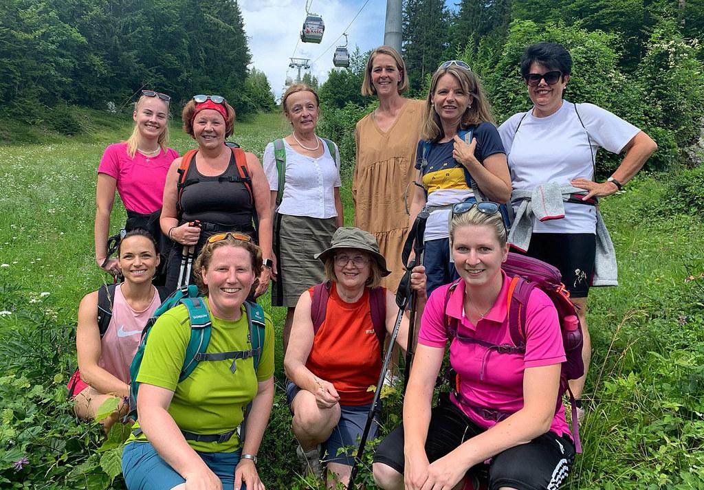 Die Loderbichlalm bei Lofer war das Ziel der gemeinsamen Wanderung von LR Andrea Klambauer mit Salzburger Politikerinnen.