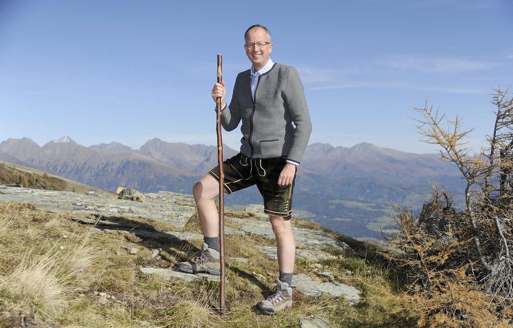 In seiner Freizeit ist der Bürgermeister der Gemeinde St. Michael im Lungau gerne in den Bergen unterwegs.